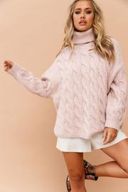 Smoked Heart Sweater // Pink
