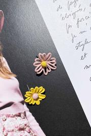 Refa Ear Studs // Yellow Pink