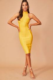 No Going Back Bandage Dress // Mustard | Countryweddingmovie.?id=28836178526377
