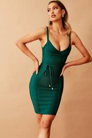Turn Around Bandage Dress // Forest Green