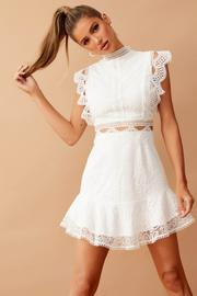 Worth The Chase Dress // White